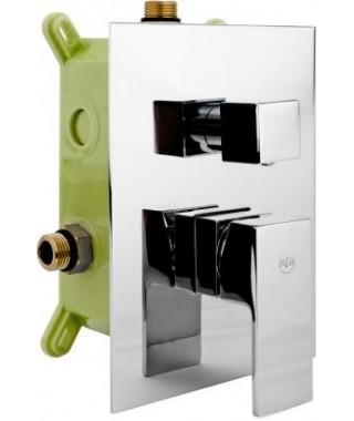 KFA Hexa Quadro 40 chrom bateria wannowo-prysznicowa podtynkowa 3-drożna 4029-411-00