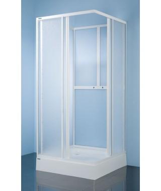 SANPLAST CLASSIC kabina kwadratowa czterościenna KC/Dr-c 90x90x185cm profil biały.polistyren 600-013-1230-01-520