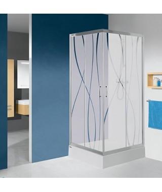 SANPLAST TX kabina kwadratowa z brodzikiem KN/TX5b-80-S+Bza sbW0 80x80x203 transparentna W0 602-271-0221-38-401