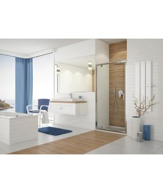 SANPLAST TX drzwi prysznicowe DJ/TX5b-100-S sbW0 100x190cm profil srebrny błyszczący. wzór szyby W0 600-271-1060-38-401