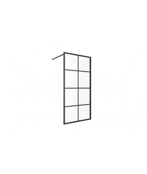EXCELLENT Fabrika ścianka prysznicowa 100 cm Walk-In czarny mat KAEX.4006.1000.LP