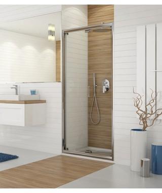 SANPLAST TX drzwi prysznicowe DŁ/TX5b-90-S sbW0 90x190cm profil srebrny błyszczący. wzór szyby W0 600-271-1220-38-401