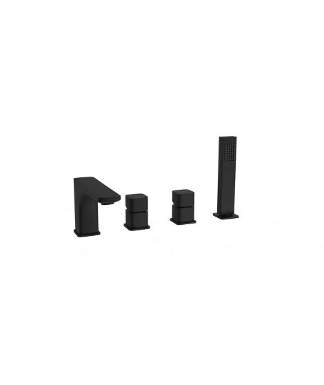 EXCELLENT bateria wannowa 4-otworowa KERIA czarna AREX.2033BL