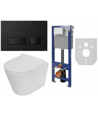 Zestaw Stelaż Cersanit Aqua22 + Lavita MAIO + przycisk Presto chrom