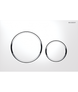 GEBERIT SIGMA 20 Przycisk spłukujący biały/chrom błyszczący/biały 115.882.KJ.1