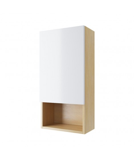 EXCELLENT TUTO szafka wisząca prawa z frontem 40cm biały/dąb MLEX.0107.400.BLWH