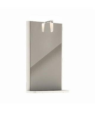 KOŁO REKORD Lustro wiszące z oświetleniem biały połysk 38,3 x 60,5 x 12,5 cm 88417000