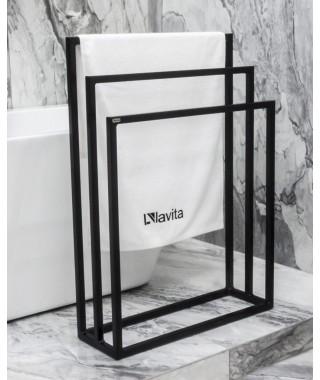 LAVITA Halmahera stojak na ręczniki czarny mat 5908211470306