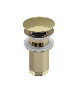 NEXE korek click-clack z przelewem, przycisk duży, wysoki z koszem, okrągły, wypukły, złoty 36-300-0000-006