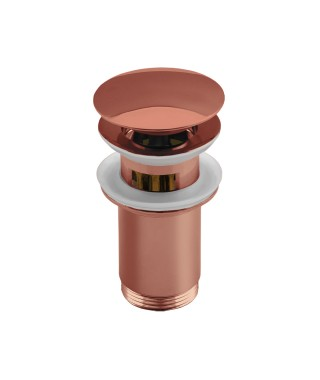 NEXE korek click-clack z przelewem, przycisk duży, wysoki z koszem, okrągły, wypukły, różowe złoto 36-300-0000-007