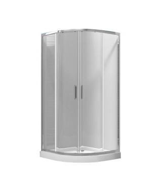 OMNIRES CHELSEA Kabina prysznicowa szklana półokrągła 90x90x190cm NDF90X