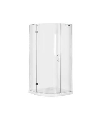 Kabina prysznicowa szklana półokrągła 90x90x185cm OMNIRES MANHATTAN ADF90X
