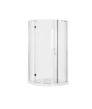Kabina prysznicowa szklana półokrągła 90x90x185cm OMNIRES MANHATTAN ADF90X LUX