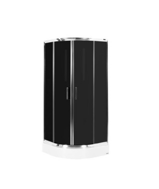 Kabina prysznicowa szklana półokrągła 90x90x190cm OMNIRES BLACK 90