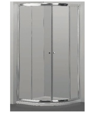 Kabina prysznicowa szklana półokrągła 90x90x185cm OMNIRES BRONX Kabina prysznicowa szklana półokrągła 90x90x185cm S2030