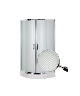 Kabina prysznicowa szklana półokrągła 80x80x185cm OMNIRES HEALTH JK2808 LC2 CHESS