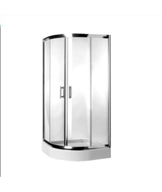 Kabina prysznicowa szklana półokrągła 90x90x185cm OMNIRES HEALTH JK2809 LC2 TR