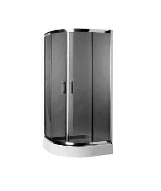 Kabina prysznicowa szklana półokrągła 90x90x185cm OMNIRES HEALTH JK2809 LC4 GR