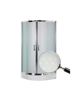 Kabina prysznicowa szklana półokrągła 90x90x185cm OMNIRES HEALTH JK2809 LC2 DIAMOND