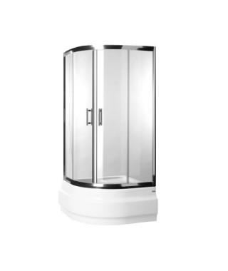 Kabina prysznicowa szklana półokrągła 90x90x165cm OMNIRES HEALTH JK2809C LC2 TR
