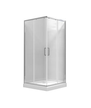 Kabina prysznicowa szklana kwadratowa 90x90x185cm OMNIRES CHELSEA NDC90X