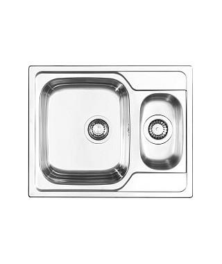 Zlewozmywak stalowy PYRAMIS ATHENA 62x50 1 1/2B 1D gładki/polerowany