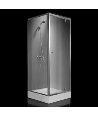 OMNIRES Kabina prysznicowa szklana kwadratowa 90x90x185cm S-90K TR