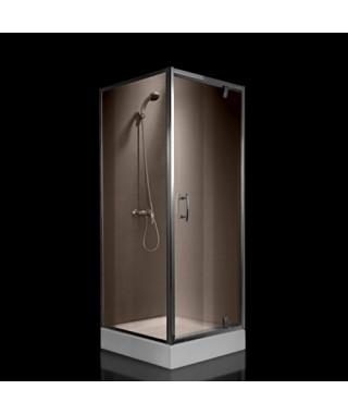Kabina prysznicowa szklana kwadratowa 90x90x185cm OMNIRES S-90K BR