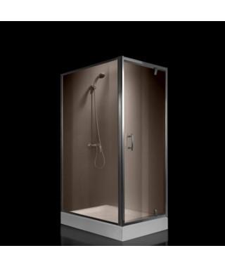 Kabina prysznicowa szklana kwadratowa 80x100x190cm OMNIRES S-80/100K BR