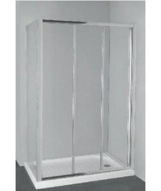 Kabina prysznicowa szklana przesuwna 110x90x185cm OMNIRES BRONX S2050 110 + 10P 90