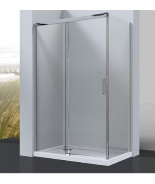 Kabina prysznicowa szklana przesuwna OMNIRES SOHO CLP12X + CLR80X