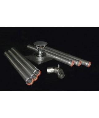 Pakiet kominowy DN 80 w szacht do kotłów turbo i kondensacyjnych KRZYS-POL