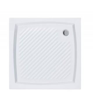 Brodzik kwadratowy POLIMAT 80 x 80 x 5 x 16 cm kompaktowy