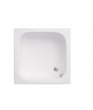 Brodzik kwadratowy POLIMAT 80 x 80 x 26 cm bez siedziska ze stelażem