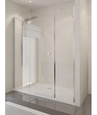 Drzwi prysznicowe 145x190 cm NEW TRENDY MODENA PLUS szkło czyste, lewe