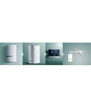 Vaillant Pakiet ecoTEC VC plus 146/5-5 + VIH R 150 + multiMATIC 700 + zestaw poziomy przez ścianę lub dach