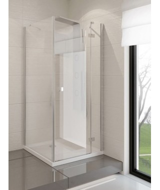 Kabina kwadratowa 90x90x190 cm NEW TRENDY MODENA szkło czyste, prawa