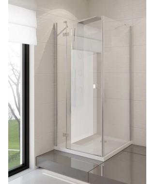 Kabina kwadratowa 100x100x190 cm NEW TRENDY MODENA szkło czyste, lewa