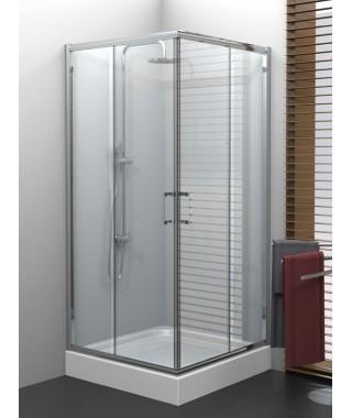 Kabina prysznicowa 90x90x190 cm NEW TRENDY VARIA szkło grafit