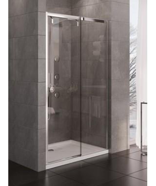 Drzwi przesuwne NEW TRENDY PORTA 140/200 chrom, szkło czyste, lewe