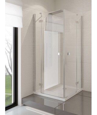 Kabina kwadratowa 110x110x190 cm NEW TRENDY MODENA szkło czyste