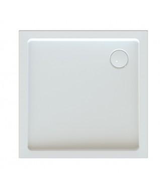 Brodzik kwadratowy 100x100x5cm SANPLAST Bza/CLII biały ew