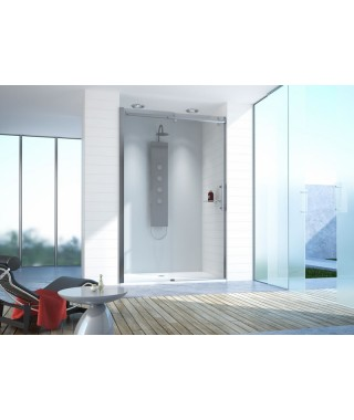 Drzwi prysznicowe 180-190cm D2/ALTII profil chrom/srebrny błyszczący. wzór szyby W0