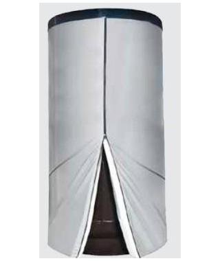 Wymiennik C.W.U. pionowy wolnostojący z wężownicą spiralną GALMET BIG TOWER 1000l w rozbieralnej miękkiej piance poliuretanowej