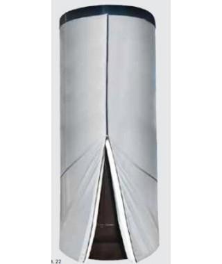 Wymiennik C.W.U. pionowy wolnostojący z wężownicą spiralną GALMET TOWER SLIM 800l na dennicy Ø 790 mm w rozbieralnej miękkiej p