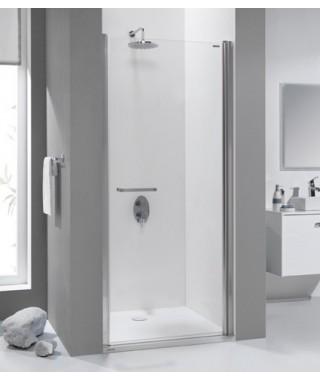 Drzwi prysznicowe 90x195cm SANPLAST DJ/PRIII-90-S. profil srebrny błyszczący. wzór szyby W0