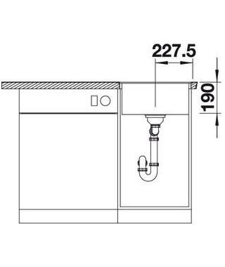 Zlewozmywak kawowy BLANCO DALAGO 45-F. 45x50