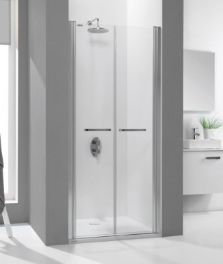 Drzwi prysznicowe 110x195cm SANPLAST DD/PRIII-110-S. profil srebrny matowy. wzór szyby W0