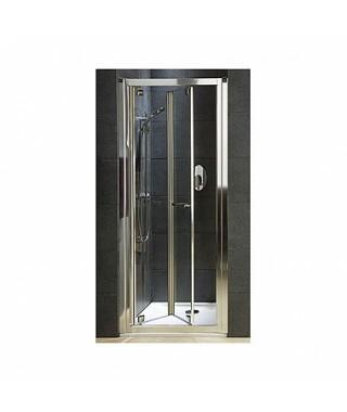 Drzwi wnękowe KOŁO BIFOLD GEO 6 80 Szkło hartowane - profile srebrne połysk