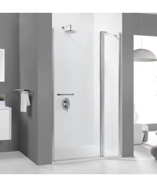 Drzwi prysznicowe 120x195cm SANPLAST DJ2/PRIII-120-S. profil srebrny błyszczący. wzór szyby W0